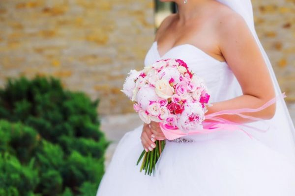 """Свадебный букет """" Розовое наслаждение"""""""