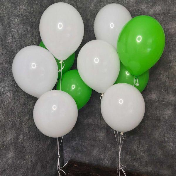 """Воздушные шары """" Белые и зеленые"""""""