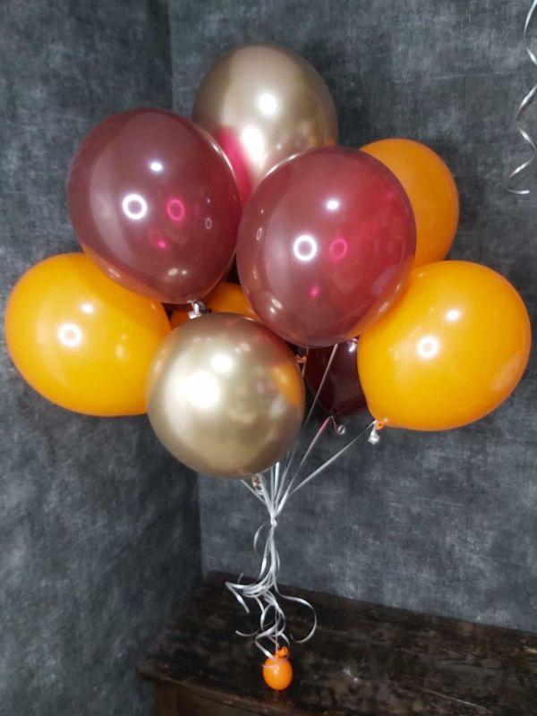 """Фонтан из 11 воздушных шаров """"Оранж"""""""