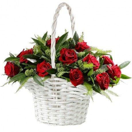 """Корзина с розами """"Изысканность"""""""