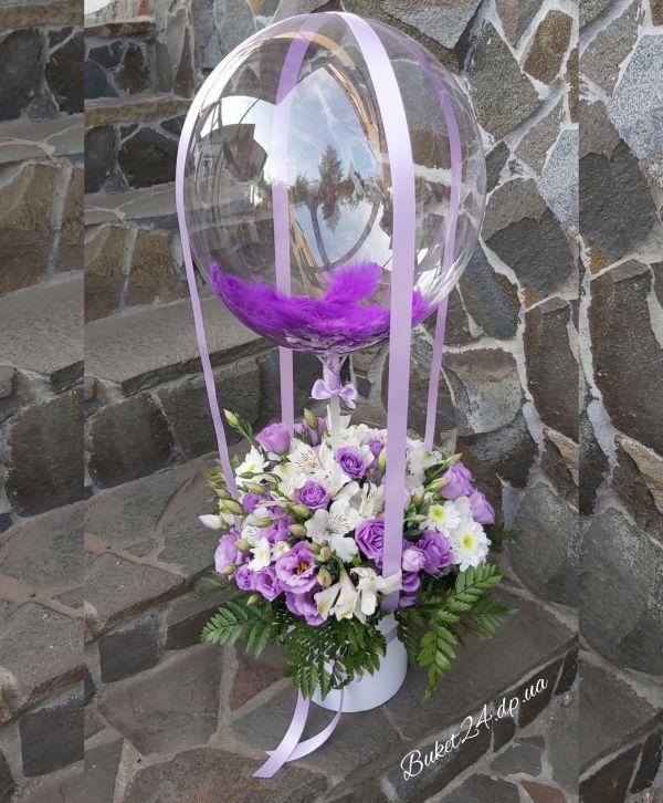 Цветы с шаром баблс