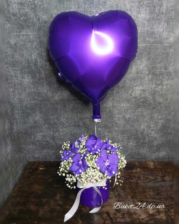 """Орхидея в коробке """"Трепетные чувства"""""""