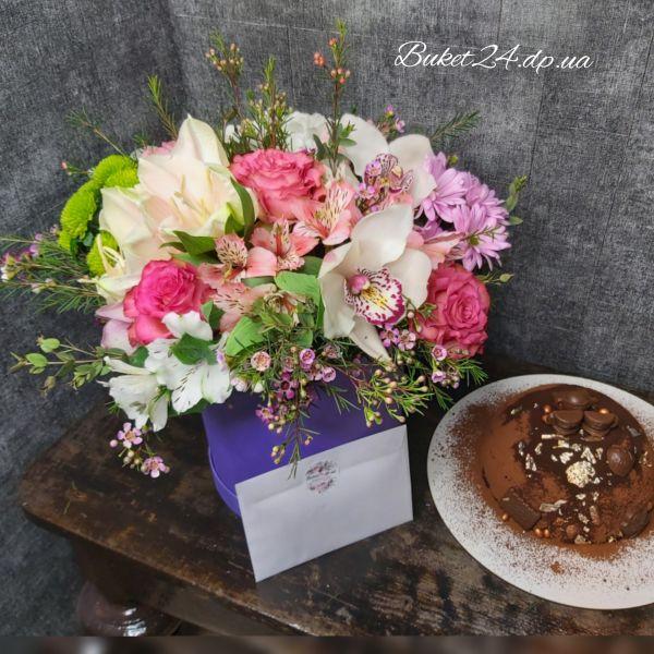 Цветы + торт
