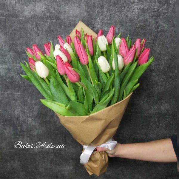 """Букет с тюльпанами """"Нежность"""""""
