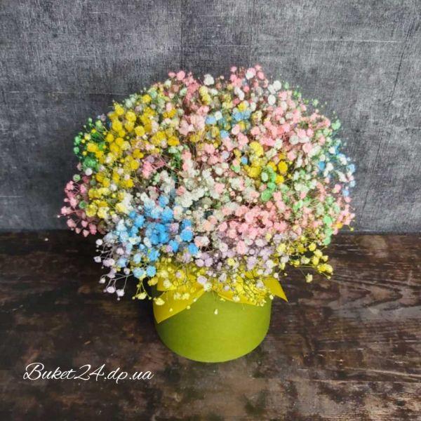 FLOWERS BOX С ГИПСОФИЛОЙ