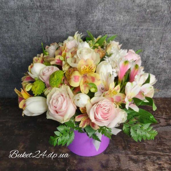 Авторская коробка с цветами