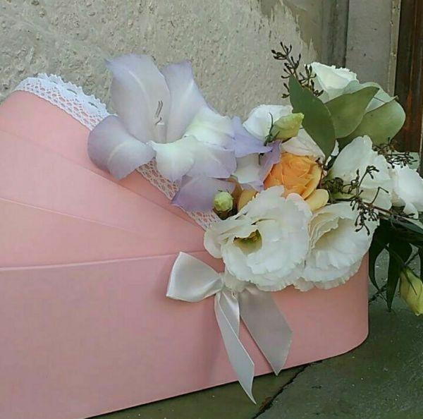 Люлька с цветами на выписку